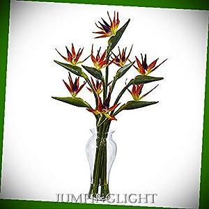 JumpingLight Birds of Paradise in Vase Artificial Flowers Wedding Party Centerpieces Arrangements Bouquets Supplies