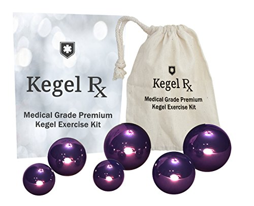 PC Muscle Exercise Kit - Medical Grade Doctor Approved Stainless Steel Kegel Exercise Weights For Women - Tighten Your Pelvic Floor Stop Leaking and Prevent Prolapse (130g, 70g, 30g Set)