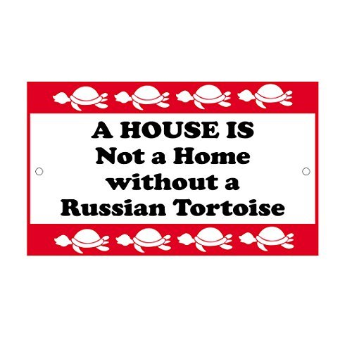 - House is Not A Home Without Russian Tortoise Novelty Metal Sign for Home Decor Tin Sign for Man Women Cave