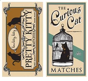 HomArt Curious Cat Long Matches Match Box Set Of 2