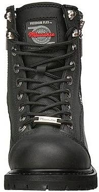 Black, Size 10.5C Milwaukee Motorcycle Clothing Company Accelerator Leather Womens Motorcycle Boots