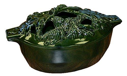 Green Majolica Acorn Steamer (Steamer Wright)