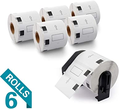 1.1 in x 2.4 in LD Compatible Brother DK-1209 6 Rolls of Address Labels
