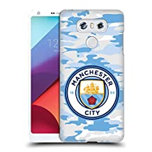 Official Manchester City Man City FC Light Blue Moon Badge Camou Hard Back Case for LG K3 (2017)