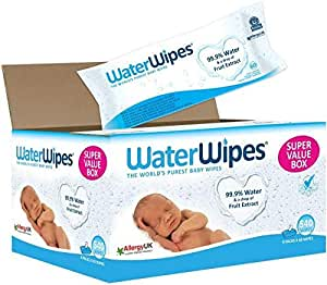 WaterWipes - Pack of 9 Pouches x 60 Sheets, 540 Wipes