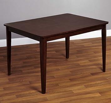 Amazoncom Simple Living Clarissa MidCentury Modern Espresso - Mid century square dining table