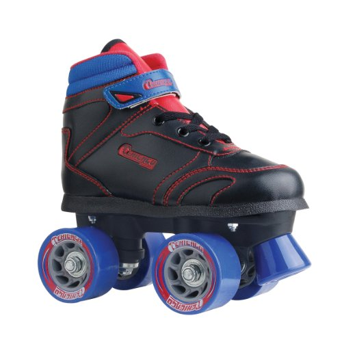 Chicago Boys Sidewalk Roller Skate- Black Size J13