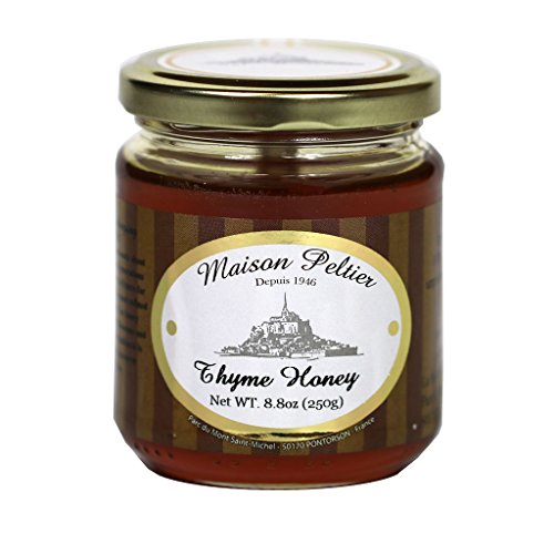 Maison Peltier - Pure Raw Thyme Honey, 100% Unpasteurized | Made in France, 250g (8.8oz) Glass Jar
