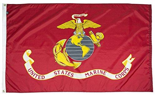 FlagSource - U.S. Marine Corps 3x5' Nylon Military Flag - Pr