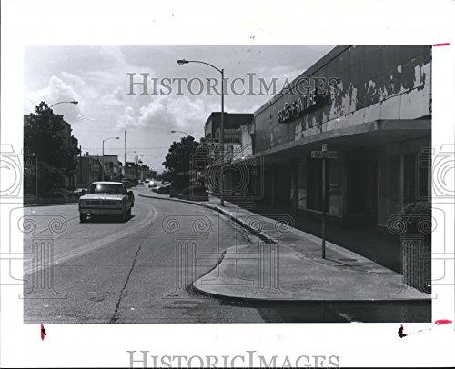 1990 Press Photo Buildings in Baytown Texas Once Housed Businesses Now - Of Texas Baytown Pictures