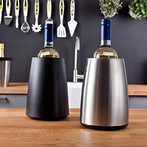 Vacu Vin Rapid Ice Elegant Wine Cooler - Black