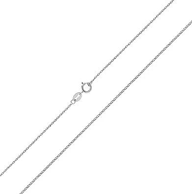 ce905fb6a4bf Bordillo Cadena Mujer Plata de Ley 925-46cm WJS3668  Amazon.es  Joyería