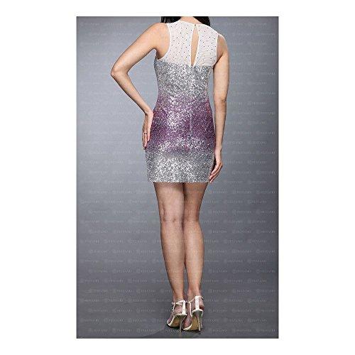 Lila Für Mini Cocktail Kleid Ital Damen Festamo Design bei w8qtx8d