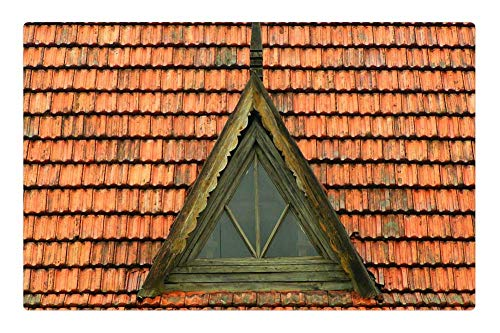 Tree26 Indoor Floor Rug/Mat (23.6 x 15.7 Inch) - Architecture Roof Buildings Baked Fired Clay