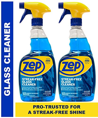 (Zep Streak-Free Glass Cleaner 32 Ounces (Pack of 2) - Amazing Value for a Streak Free Shine!)