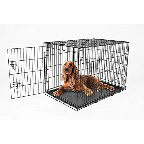 Carlson Secure and Compact Single Door Metal Dog Crate, Intermediate