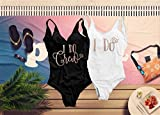 Bachelorette Party One Piece Swimsuit, I Do and I Do Crew Bathing Suit for Bride and Bridesmaids, Unique Bridal Party High Cut and Low Back Swimsuit for Women