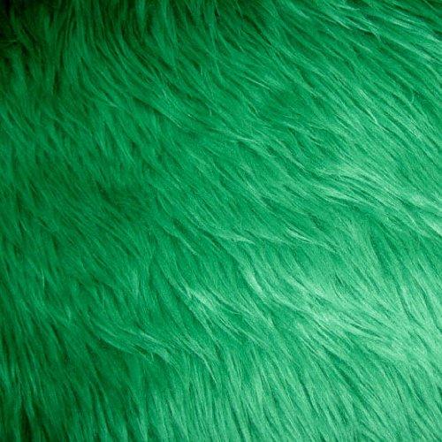 (Kelly Green Shag Faux Fur Fabric 60