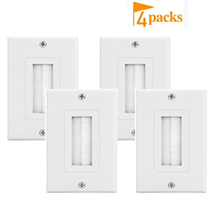 Brush Wall Plate Decora Style Cable P Through Insert Wall Plate for on