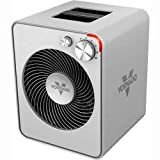 Vornado VMH300 Whole Room Metal Heater with 2 Heat Settings and Adjustable Thermostat, Silver