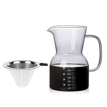 Cafetera Filtro de café Jarra de cristal 800 ml cafetera de ...