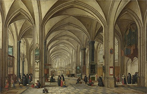 'Hendrick Van Steenwyck The Younger And Jan Brueghel The Elder The Interior Of A Gothic Church L ' Oil Painting, 20 X 31 Inch / 51 X 79 Cm ,printed On Perfect Effect Canvas ,this Best Price Art Decorative Canvas Prints Is Perfectly Suitalbe For Gift For Relatives And Home Gallery Art And Gifts
