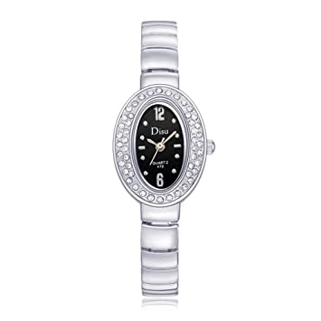 Broadroot Moda Rhinestone Pulsera Relojes Quartz Casual Mujeres Reloj de Pulsera(5)