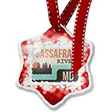 Christmas Ornament USA Rivers Sassafras River - Maryland, red - Neonblond