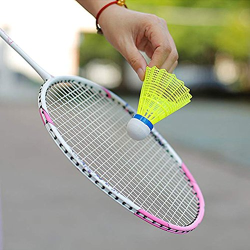plástico Outdoor VORCOOL Nylon Training Sports Badminton 12PCS de Indoor Amarillo Bolas Feather X1Rqv1B