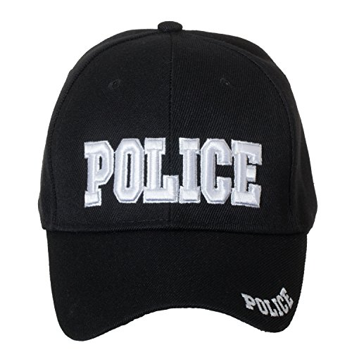 Artisan Owl Police Deluxe Black Embroidered Law Enforcement/Security Novelty Baseball Caps (Police)