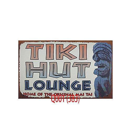 Souvenir Plate Wall (Novelty Funny Sign Tiki Hut Lounge Vintage Metal Tin Sign Wall Sign Plaque Poster for Home Bathroom and Cafe Bar Pub, Wall Decor Car Vehicle License Plate Souvenir 12-2)