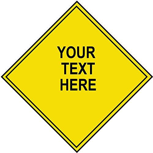 Custom Diamond Shape Aluminium Sign With your text 12