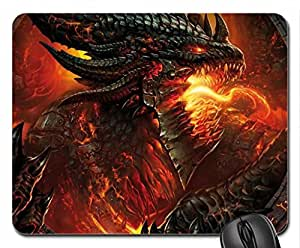 fire dragon Mouse Pad, Mousepad (10.2 x 8.3 x 0.12 inches)