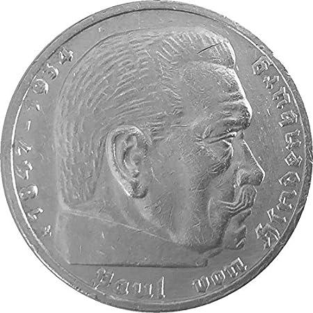 Münzen 5 Reichsmark Deutschland 1936 E Hindenburg Jäger 367