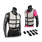 Mir Super Slim AIR Flow Adjustable Weighted Vest Machine Washable. for Men & Women (Black - 16LBS)