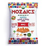 Mozaics Organic Popped Veggie & Potato Chips- Healthy snack~100 calorie snack, better than veggie straws or stix – gluten free – 0.75oz single serve bags (BBQ, 12-count) Review