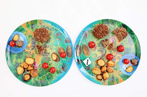 - Playte- Play Together - The Adventouros Kids Plate - Gamifying Dinner Time - Teach Your Child Healthy Eating Habits & Keep them Food-focused - Perfect for Picky Eaters - BPA-Free & Dishwasher Safe
