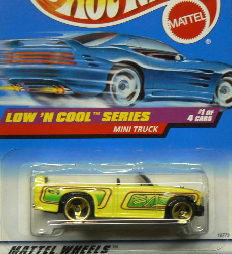 Wheels Mini Hot Truck (Hot Wheels - 1998 - Low 'N Cool Series - Mini Truck - Yellow Custom Paint - Die Cast - 1 of 4 - Limited Edition - Collectible 1:64 Scale)