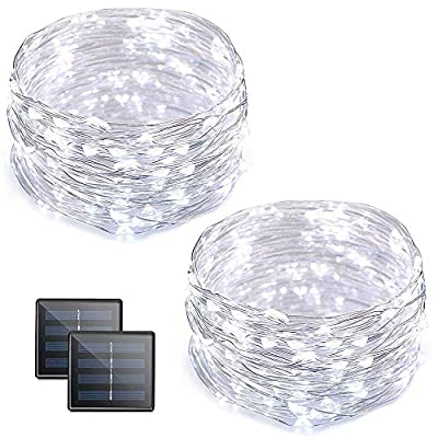 Vmanoo Fairy lights 100 LED Cooper Solar String Lights