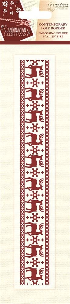 Sara Signature Collection Scandinavian Christmas Ordner – Modernes Folk Grenze, transparent Crafter' s Companion S-SX-EF-CFB