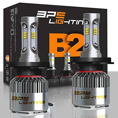 BPS Lighting B2 LED Headlight Bulbs H4 (9003,HB2) Super Bright 100W 16000LM  6000K - 6500K Cool White CSP LED Headlight Conversion Kit for Replace