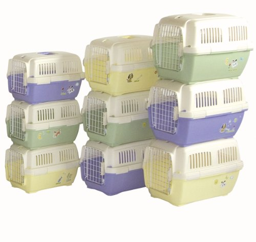Marchioro-Clipper-Cayman-1-Pet-Carrier-Small-Pet-195-inches-TanLight-Violet