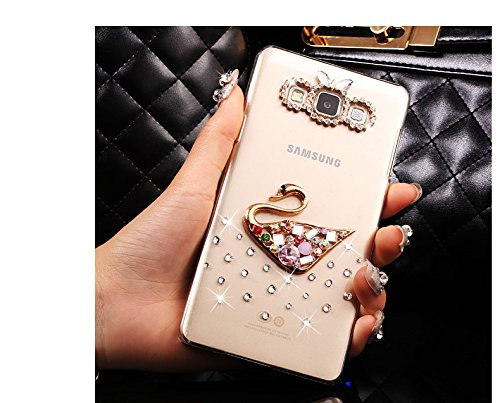 Galaxy A5 2015 Funda Samsung A5 Carcasa - Sunroyal Transparente Bling Diamante Protector Bumper Ultra Slim PC Case Cover Diamond Caja Protectora Crystal Clear Cubierta Caso Carcasa para Samsung Galaxy Foto4