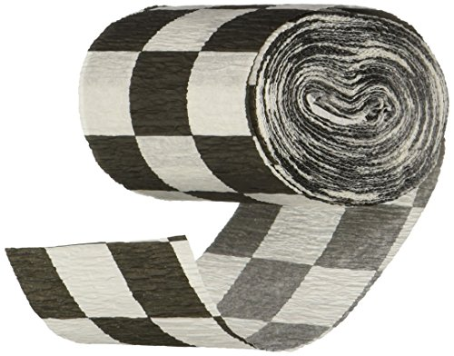 (Beistle 55397 Flame Resistant Checkered Crepe Streamer, 21/2 by 30-Feet )