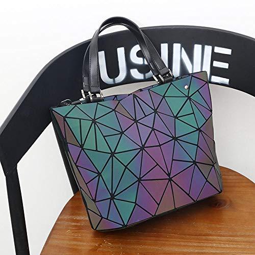 Package Hongge Handbag Shoulder Fluorescent Gradient with Single Light Shoulder Super Bag Single B Geometry wqXfqYxr