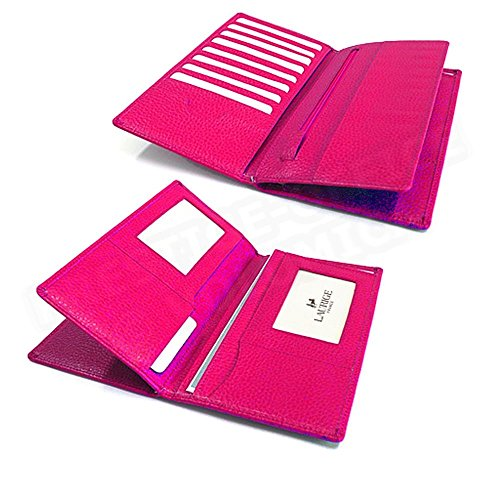 Portefeuille fuchsia documents Beaubourg Volumica Cuir Rose 8YnwR