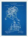 "Studio 21 Graphix 1878 Lavalette Printing Press Patent Print Art Poster UNFRAMED Blueprint 18"" X 24"""