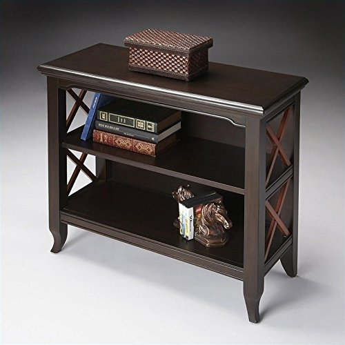 Butler Specialty 2 Shelf Low Bookcase in Transitional Cherry