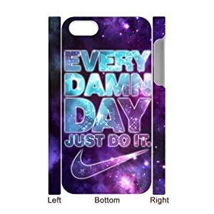 Apple iPhone 4 4s hard 3D Case cool Just do it Brand logo Stylish Nike printed HD pattern unique logo protector bumper DIY portrait customized cover otter box back shell creative gift ultra thin best Quality Limited Edition Emboss Laser Technology by iDesign Studio