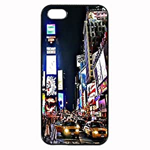 New York City Times Square Custom Image Case iphone 4 case , iphone 4S case, Diy Durable Hard Case Cover for iPhone 4 4S , High Quality Plastic Case By Argelis-sky, Black Case New